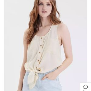🆕Front-Tie Sleeveless Blouse